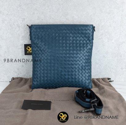 ike New - Bottega Veneta Messenger Bag Tourmaline lntecciato Small