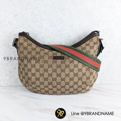 Used​ -​ Gucci Canvas​ Half​ Moon​Sling​ Bag