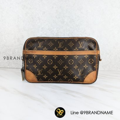 Used​- Louis​Vuitton Compienge 28​ second clutch bag purse