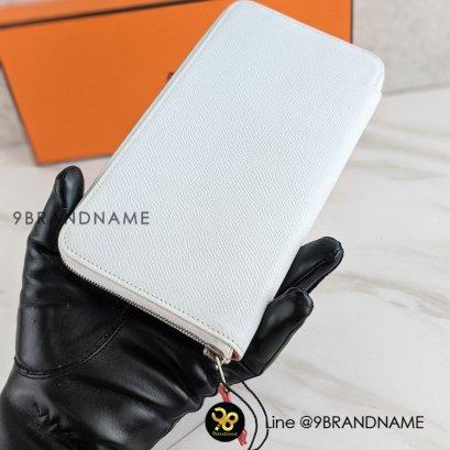 Used : Hermes Wallet Zippe / Epsom / White
