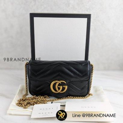 Gucci GG Marmont Super Mini หนัง Lamb สีดำ Size SuperMini