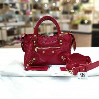 Balenciaga mini city Red Color GHW