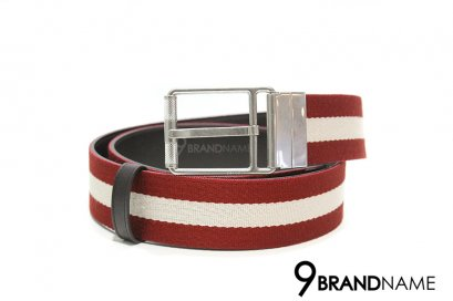 Bally Stripe & Solid Reversible Belt Size 95