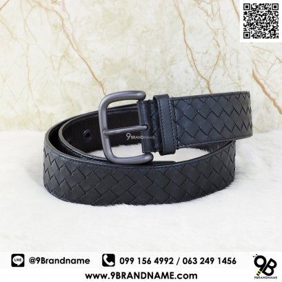 Bottega Veneta Intrecciato Leather Belt 4cm