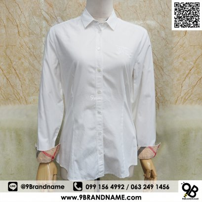 Burberry Brit Men's Henry Slim Fit Dress Shirt White Color Size M