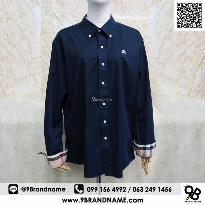Burberry Brit Men's Henry Slim Fit Dress Shirt XXL-Large Blue