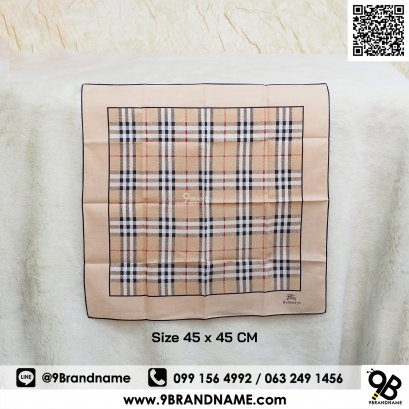 Burberry handkerchief Brown Color Size 45x45 CM