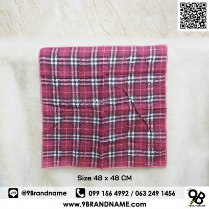 Burberry handkerchief Pink color Cutton 100% Size 48x48 CM