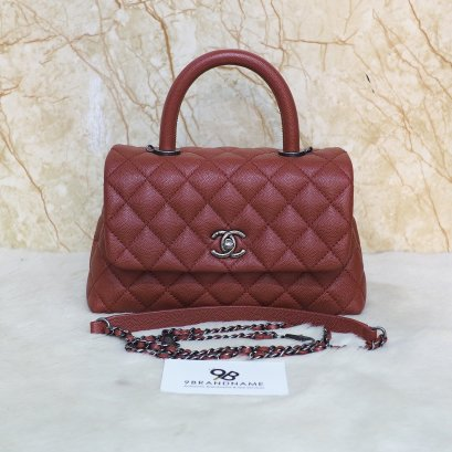 Chanel​ Coco​ 9.5 Red​ Caviar​ SHW​