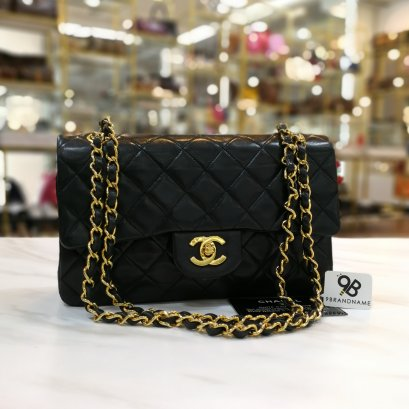 Chanel Classic Black Lamb GHW size 9