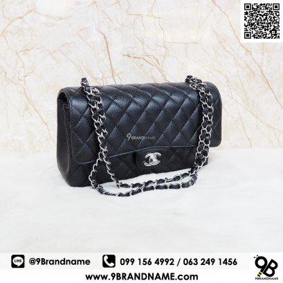Chanel Classic Size10 Black Caviar SHW (NEW)