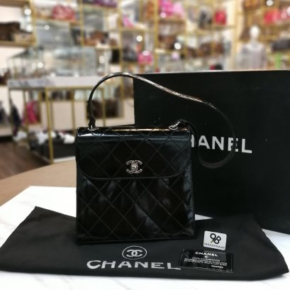 Used - Chanel Shouder​ Bag​ Black Patent​SHW​