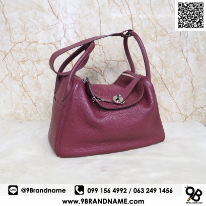 Hermes Lindy Rubis Clemence leather  30 Bag SHW