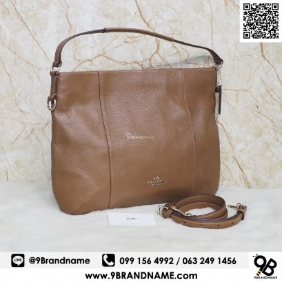 Coach​ ​East​ West Isabelle Shoulder​ Bag Pebble Leather​ ​Brown​ F1523​ F35809