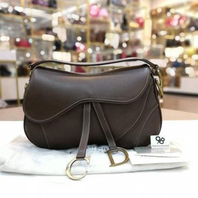 Used - Christian Dior Saddle bag brown Calf GHW