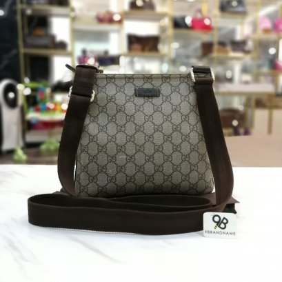 Gucci​ Messenger​ Bag​ GG​ Canvas​ Brown