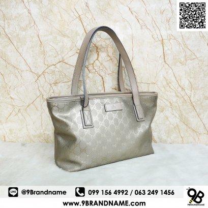 Gucci Gold Signature GG Imprime Tote Bag Size 30cm