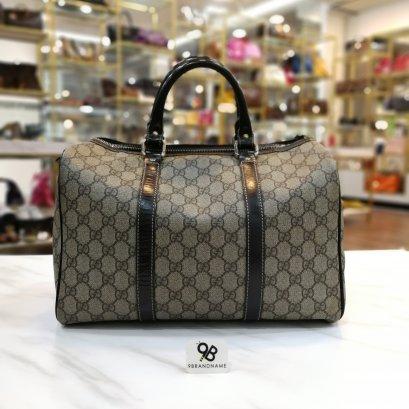 Gucci PVC Canvas GG Plus Boston Bag