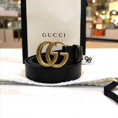 Gucci belt 3cm Black Double G Buckle 100CM