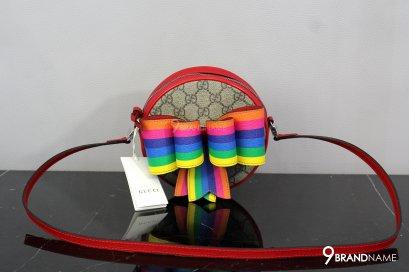 Gucci Children's GG rainbow bow messenger