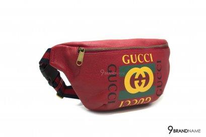 Gucci Black Print Small Belt Bag