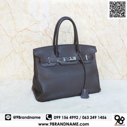 Hermes Birkin 25 Hand Tote Bag Epsom leather Chocolate Brown SHW