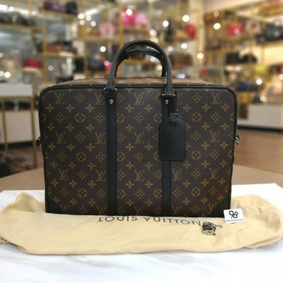 Louis​ Vuitton​ Porte​-Documents​ Voyage​ GM Monogram Macassar​ Canvas​