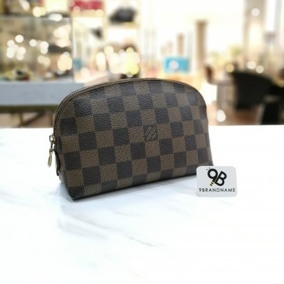 Louis​ Vuitton​ Cosmetic​ Pouch Damier​ Ebene​ Canvas​ ​ N47516​