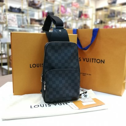 In​ Stock​ - Louis Vuitton​ Avenue Sling​ Bag​ Damier​ Graphite Canvas​ N41719