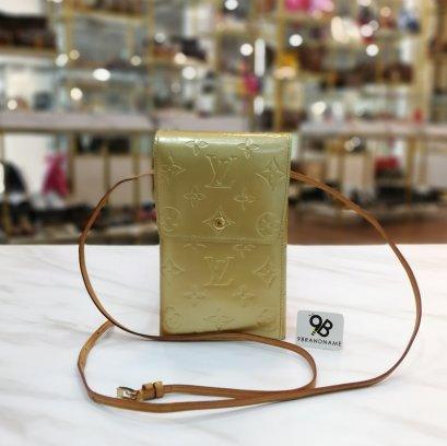 Louis Vuitton Beige Monogram Vernis Walker Bag