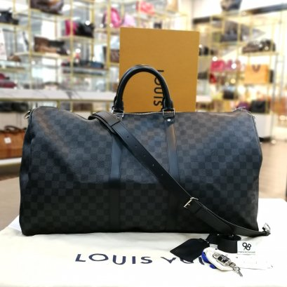 Un used​ -​ Louis Vuitton​ Keepall​ Bandoulere​ Canvas​ Graphite N41413​ Size​ : 55
