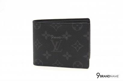 Louis Vuitton NEW Multiple Wallet Monogram Eclipse Canvas Black Grey