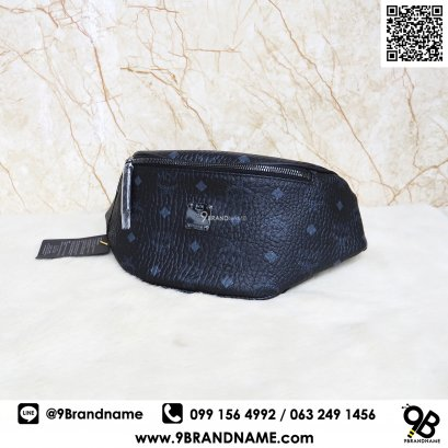 MCM Black Visetos Medium Stark Belt Bag