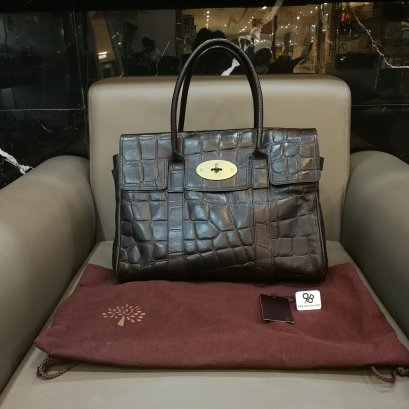 Mulberry Bayswater Reptile Print Special Purchase Brown