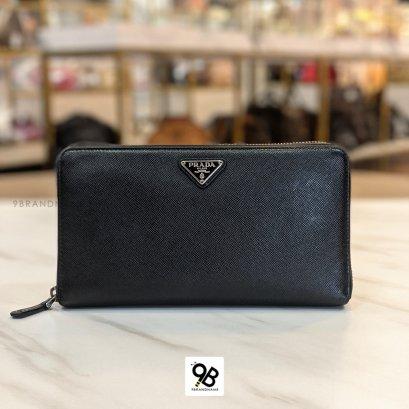 Used - Prada  Safino wallet long
