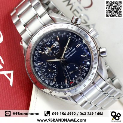 Omega Speedmaster Day Date Chronograph Stainless Steel 39mm Blue Dial 3523.8