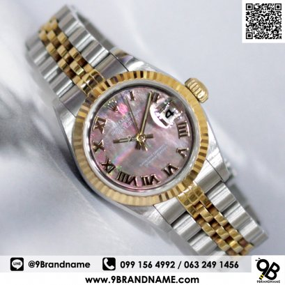 Rolex Datejust Mother of pearl Lady 2 Tone Gold Steel 26mm