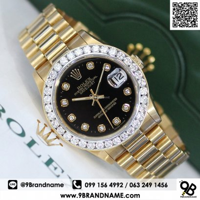 Rolex Datejust President Date Black Dial Boy Size 31 mm