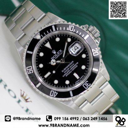 Rolex Submariner 16610 Mens Automatic Watch Black Dial Stainless Steel 40mm