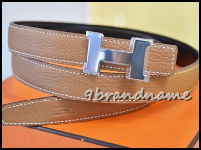 Hermes H Belt Reversible Gold Brown/ Black Size 95