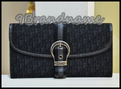 Christian Dior Long Wallet in Black Signature Canvas