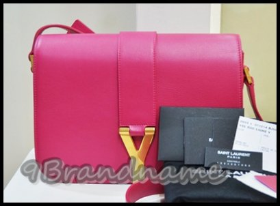 YSL Yves Saint Laurent Chyc Flab Bag Crossbody Pink Fushia