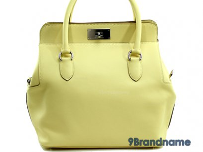 Hermes Toolbox 30 Yellow Pastel Swif Leather Stamp R