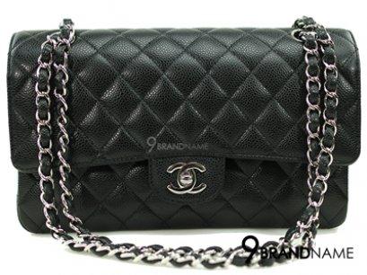 Chanel Classic 10 Black Caviar SHW - Authentic Bag กระเป๋าชาแนล คลาสสิค ไซส์10นิ้ว สีดำหนังคาเวีย อะไหล่สีเงิน รุ่นนิยมตลอดกาล ของแท้ใหม่ค่ะ