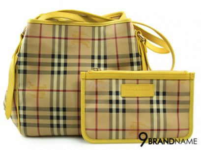 Burberry Petit Sac The Canter Avec Motif Haymarket Check