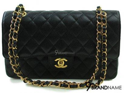 Chanel Classic 10 Black Caviar GHW - Authentic Bag กระเป๋าชาแนลคลาสสิคไซส์10นิ้ว สีดำหนังคาเวียอะไหล่สีทอง รุ่นนิยมตลอดกาลของแท้ใหม่ค่ะ