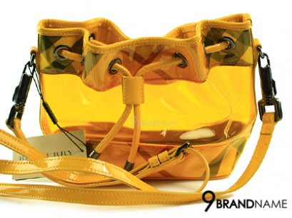 Burberry Mini Noe Yellow Patent