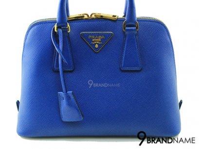 Prada BL0838 Alma 25 Saffiano Lux Azzurro - Authentic Bag  กระเป๋าปราด้าทรงอัลม่า ไซส์25สีน้ำเงินมีสายสะพายยาว ขายปราด้าของแท้ค่ะ