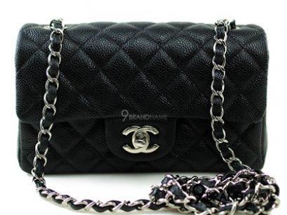 Chanel Classic 8 Black Carviar SHW - Authentic Bag กระเป๋าชาแนล คลาสสิค ไซส์8นิ้ว สีดำหนังคาเวีย อะไหล่สีเงิน รุ่นนิยมตลอดกาล ของแท้ใหม่ค่ะ