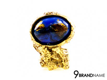 YSL Arty Ring Blue Minarals Gold